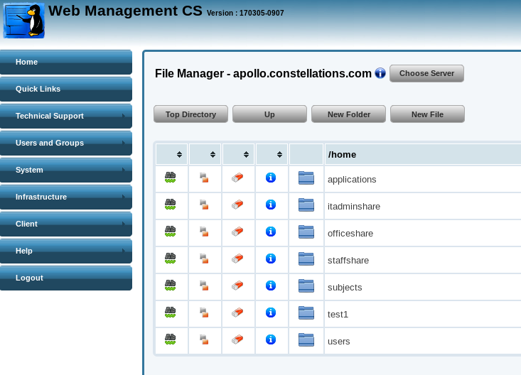 Web File Manager ACL Support – Karoshi